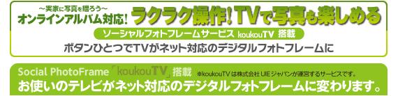 Covia CVR-501Kならお使いのテレビがネット対応のデジタルフォトフレームに変わります!