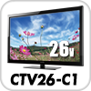 26型デジタルフルハイビジョン液晶テレビCTV26-C1